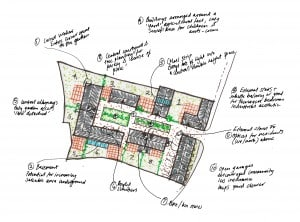 contemporary vernacular housing sketch plan