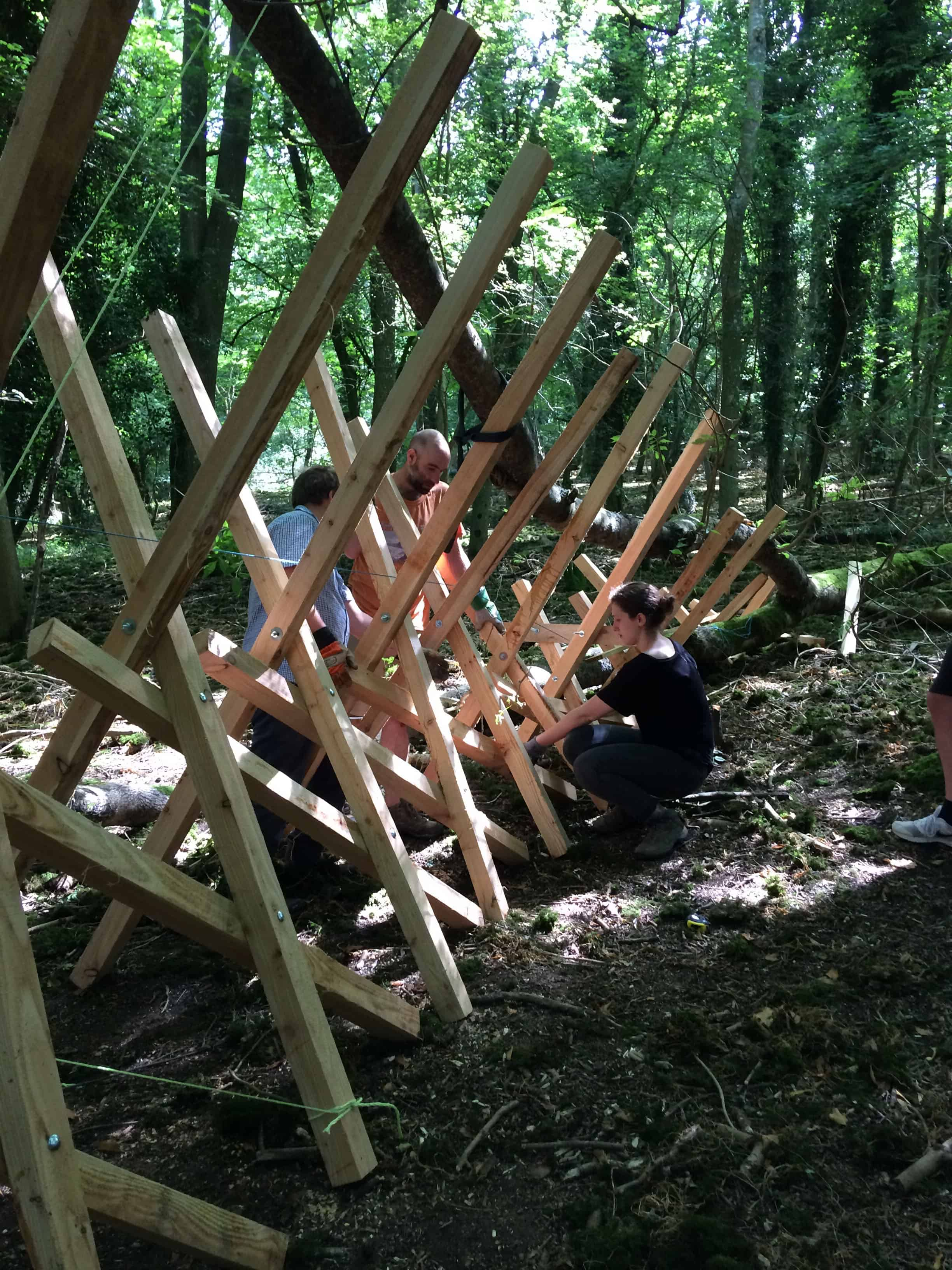 CNA team members get constructive in the woods!