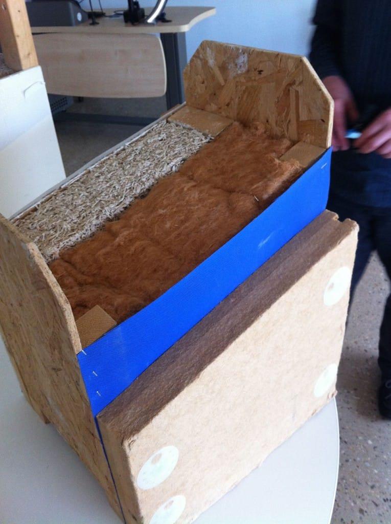Hemp, lime and timber frame prefabricated panels