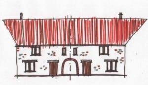 housing scheme sketch alleyway