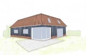 contemporary vernacular housing corner window