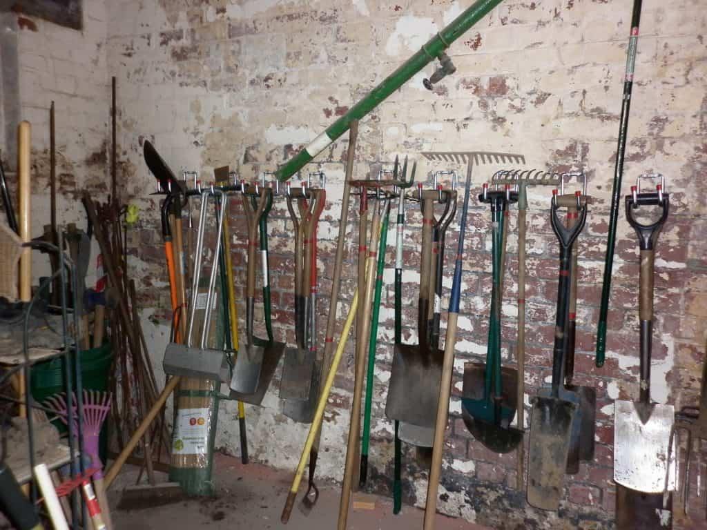Lancaster cohousing shared gardening tools