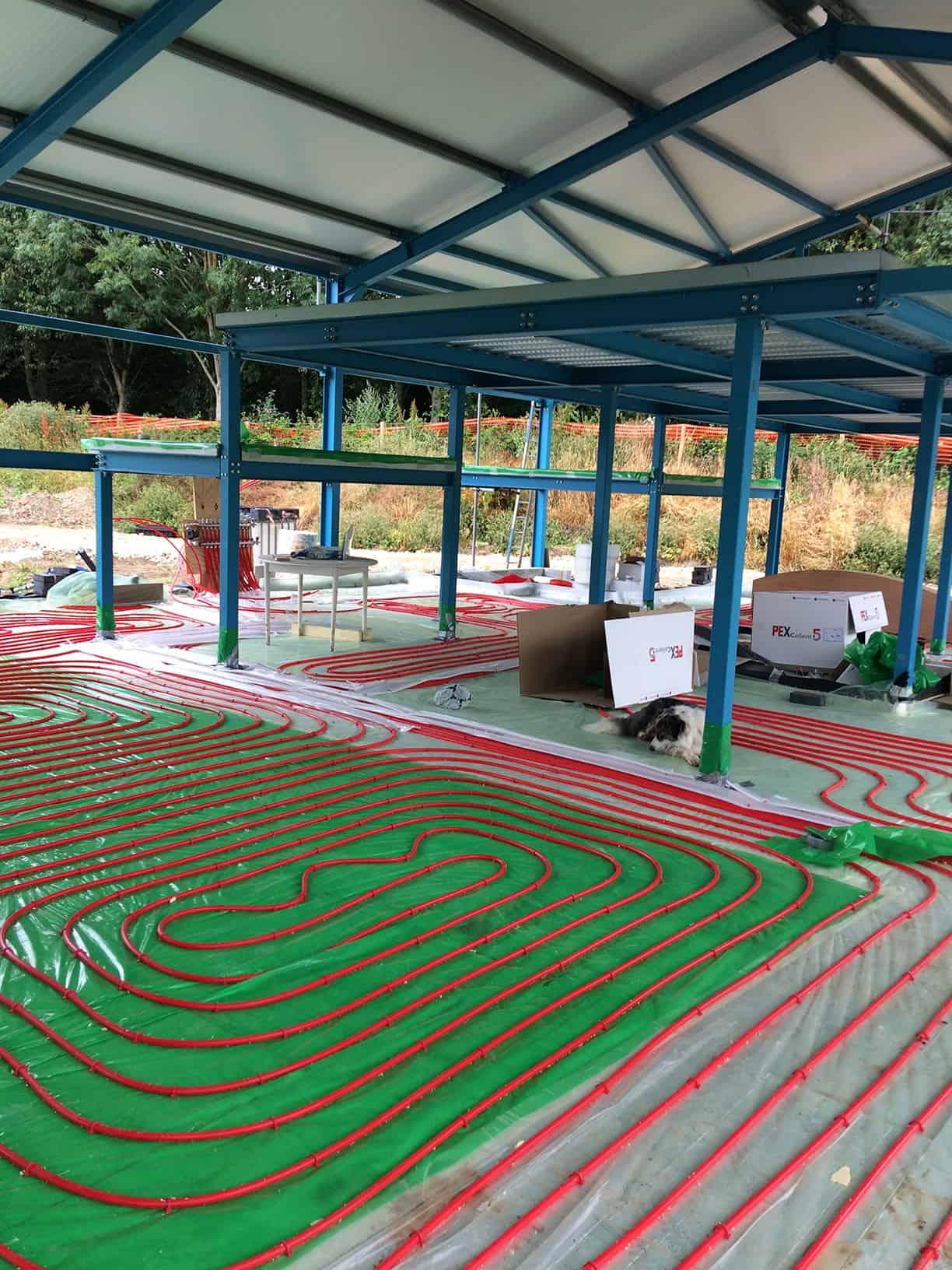 Architectural work experience underfloor heating