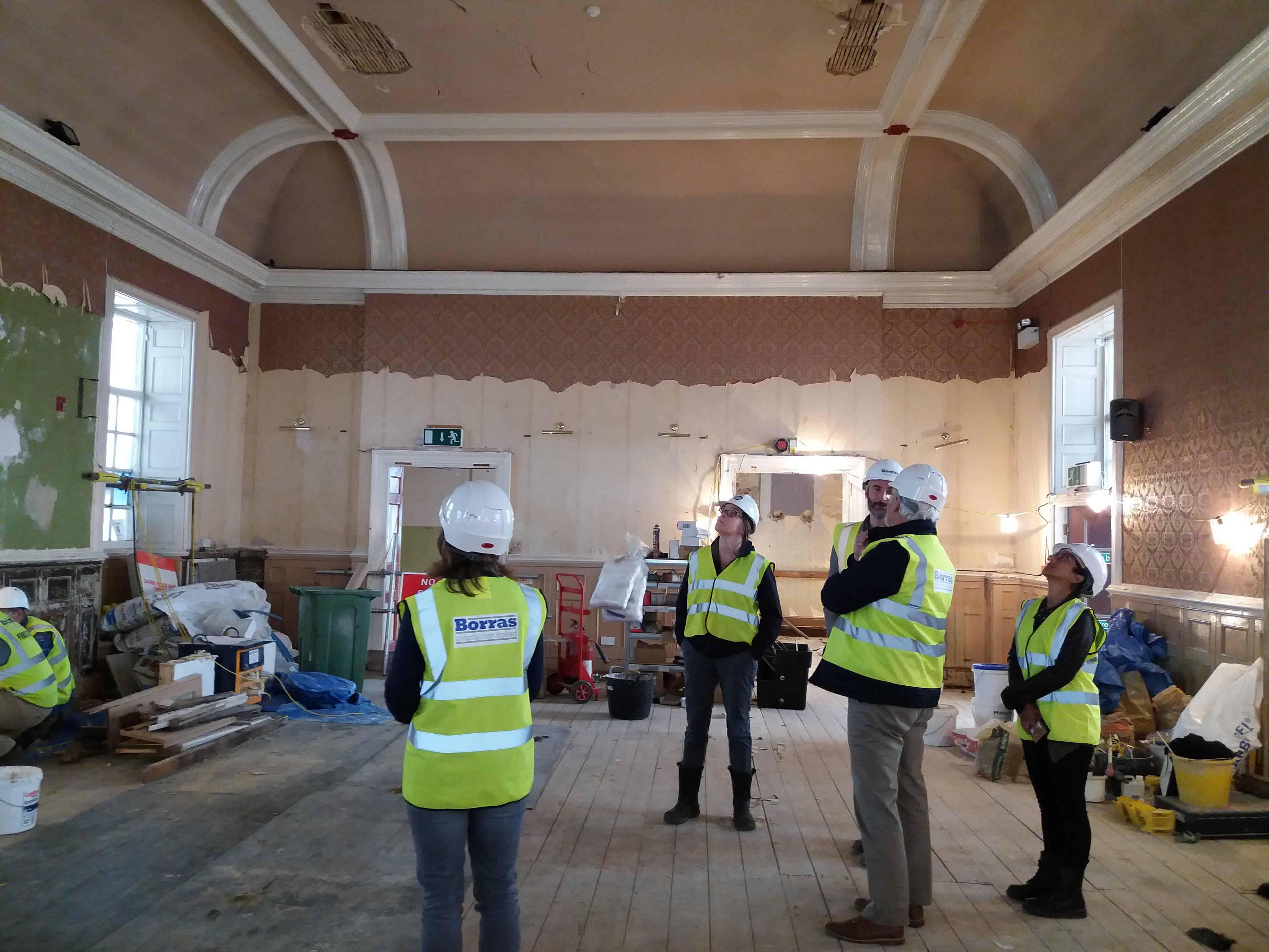 CNA visits Brackley Town Hall restoration project