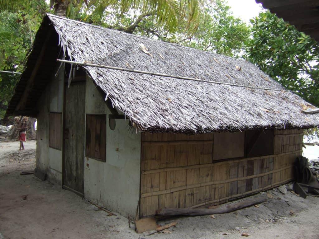 vernacular house sago leaf bamboo